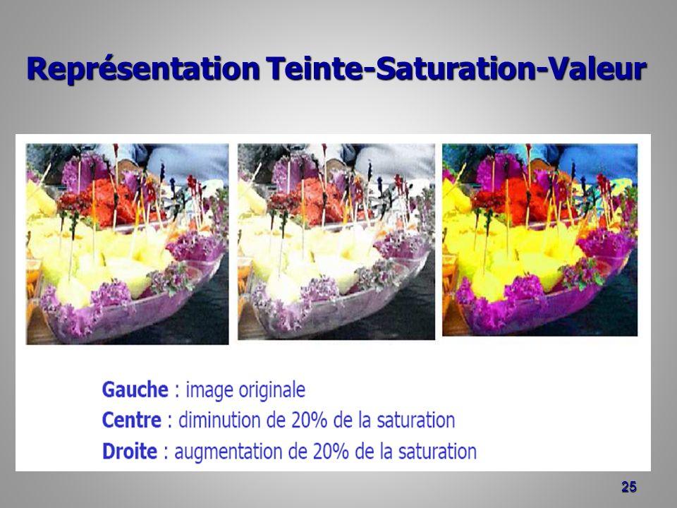 Représentation Teinte-Saturation-Valeur 25