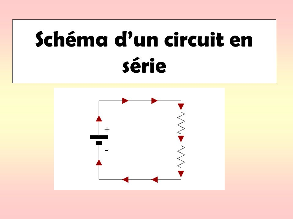 Schéma dun circuit en série