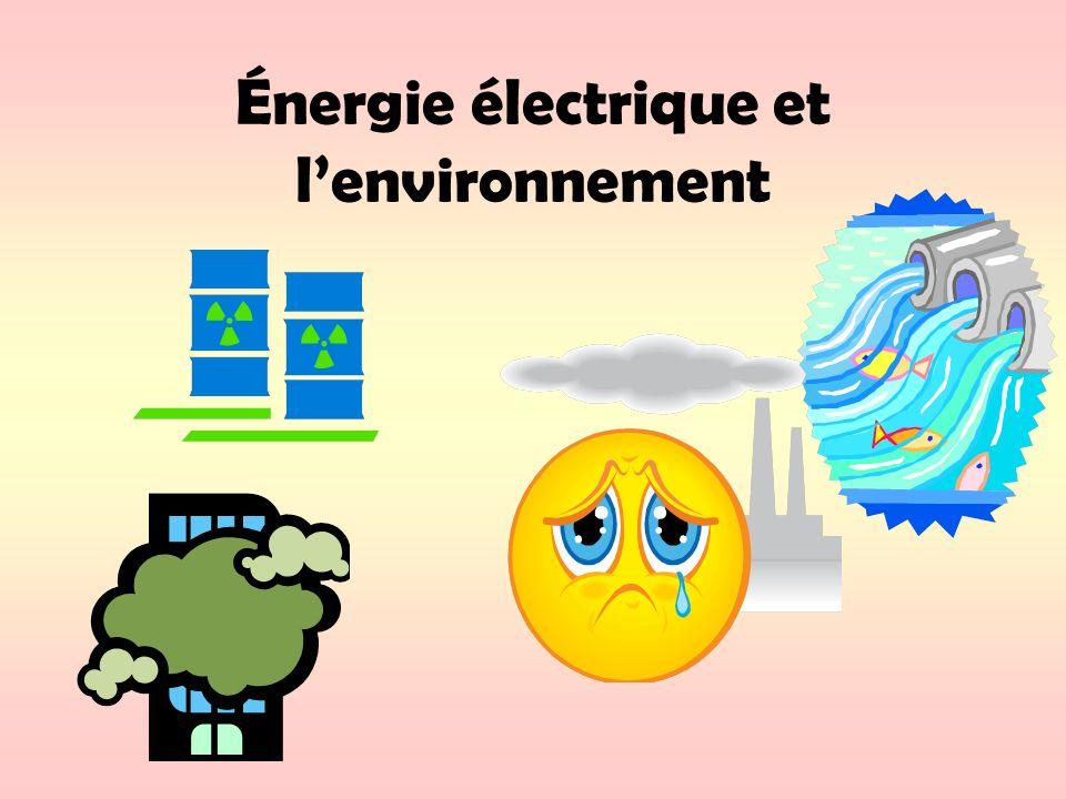 Énergie électrique et lenvironnement