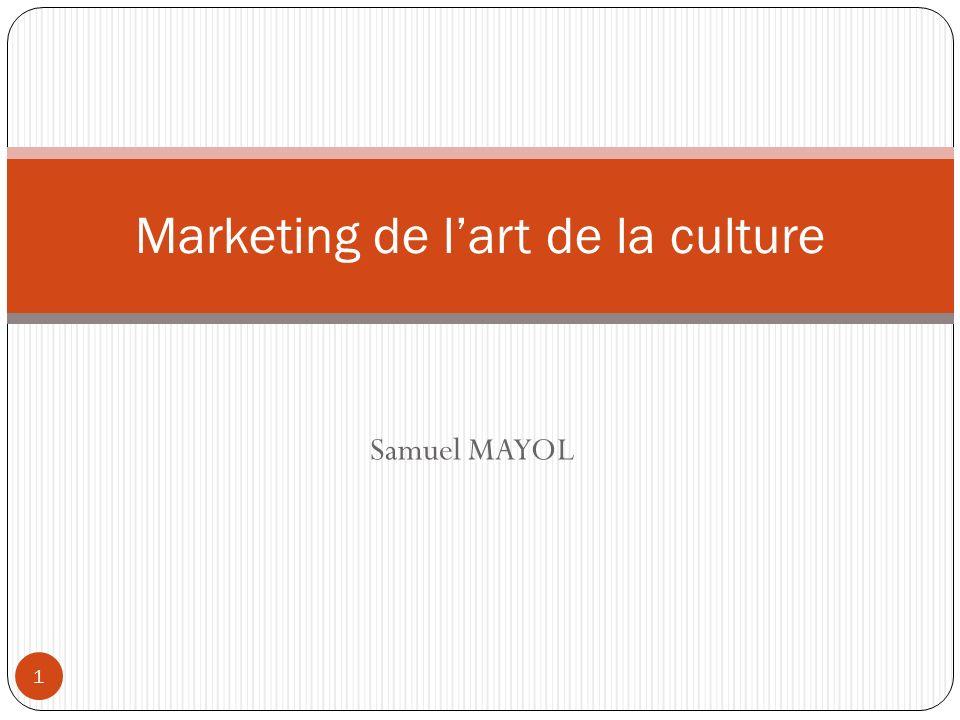 Samuel MAYOL Marketing de lart de la culture 1