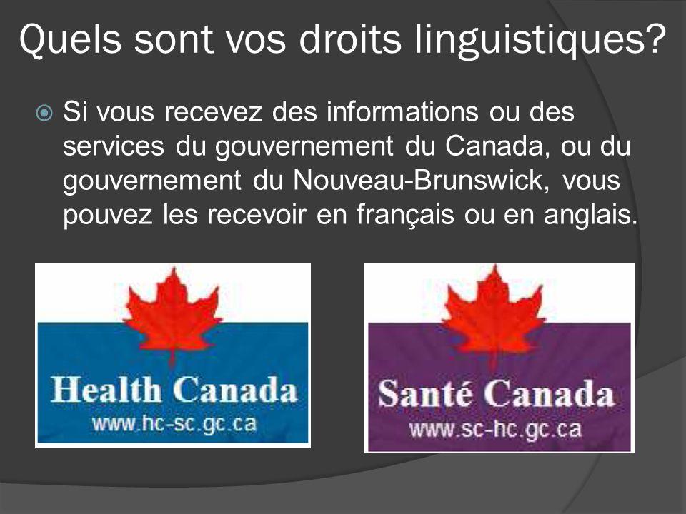 Quels sont vos droits linguistiques.