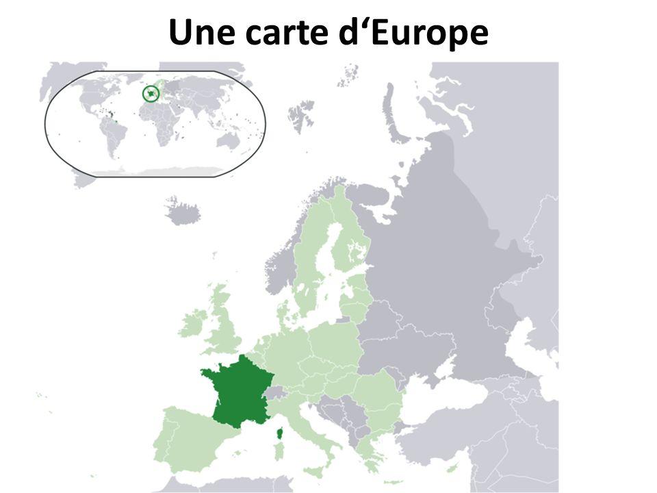 Une carte dEurope