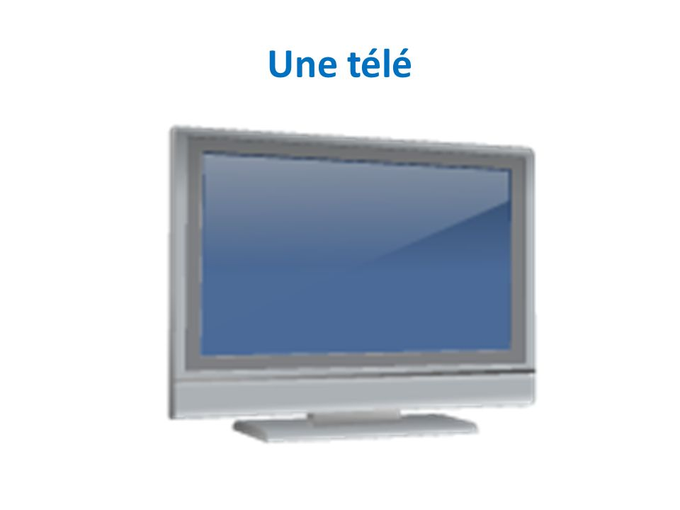 Une télé