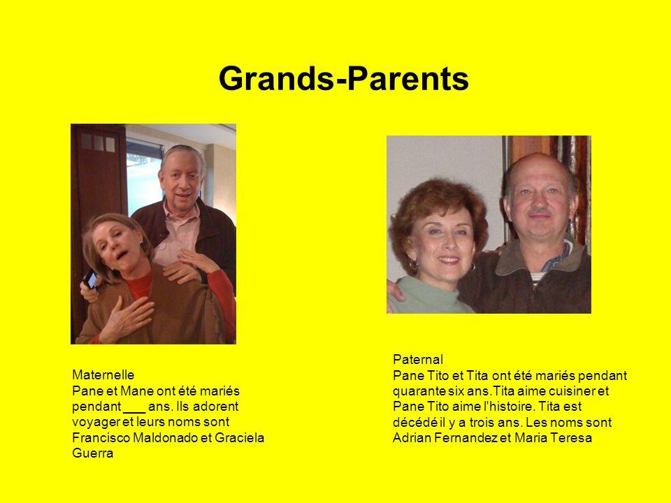 Grands-Parents Maternelle Pane et Mane ont été mariés pendant ___ ans.