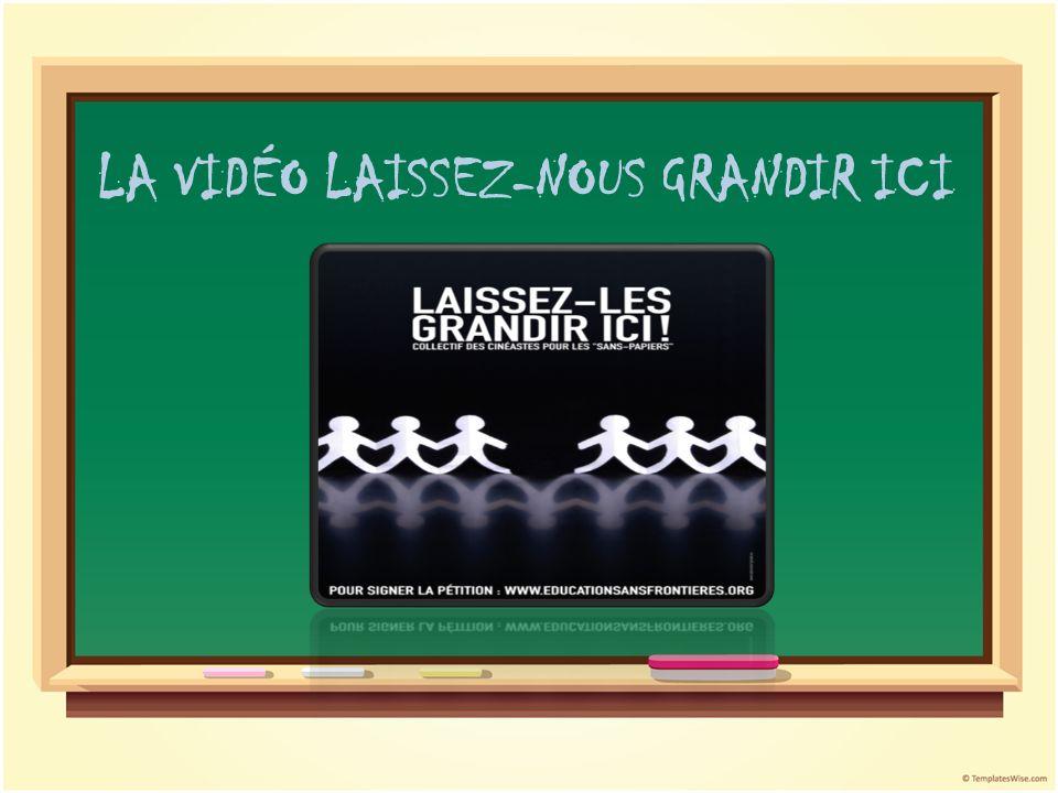 LA VIDÉO LAISSEZ-NOUS GRANDIR ICI