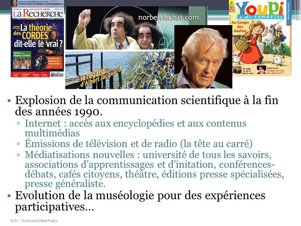 Explosion de la communication scientifique à la fin des années 1990.