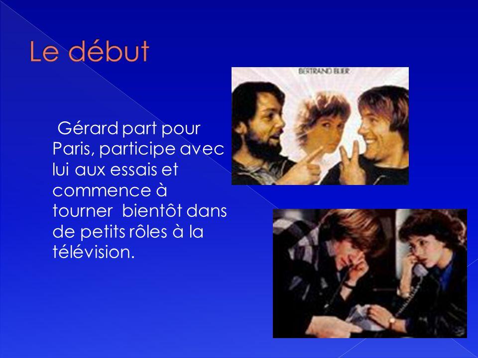 Gérard part pour Paris, participe avec lui aux essais et commence à tourner bientôt dans de petits rôles à la télévision.