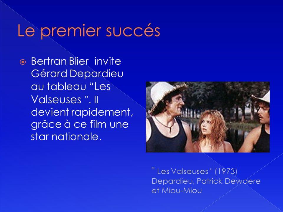 Bertran Blier invite Gérard Depardieu au tableau Les Valseuses .