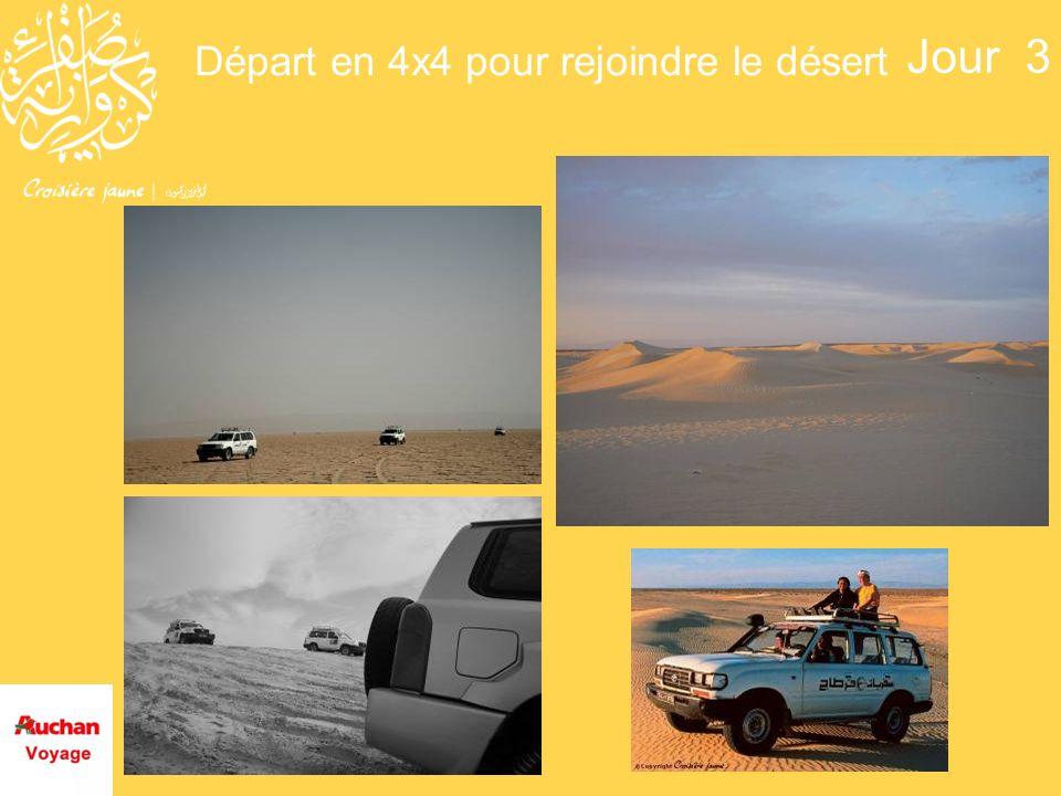 Départ en 4x4 pour rejoindre le désert Jour 3