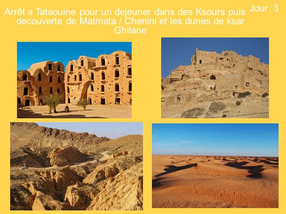 Arrêt a Tataouine pour un dejeuner dans des Ksours puis decouverte de Matmata / Chenini et les dunes de ksar Ghilane Jour 3