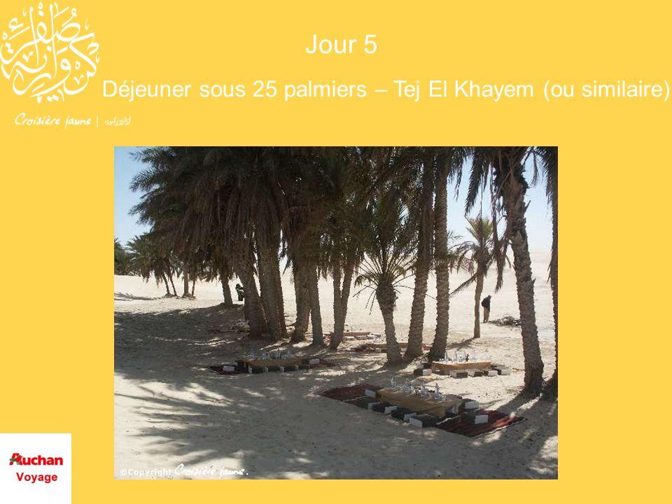 Déjeuner sous 25 palmiers – Tej El Khayem (ou similaire) Jour 5