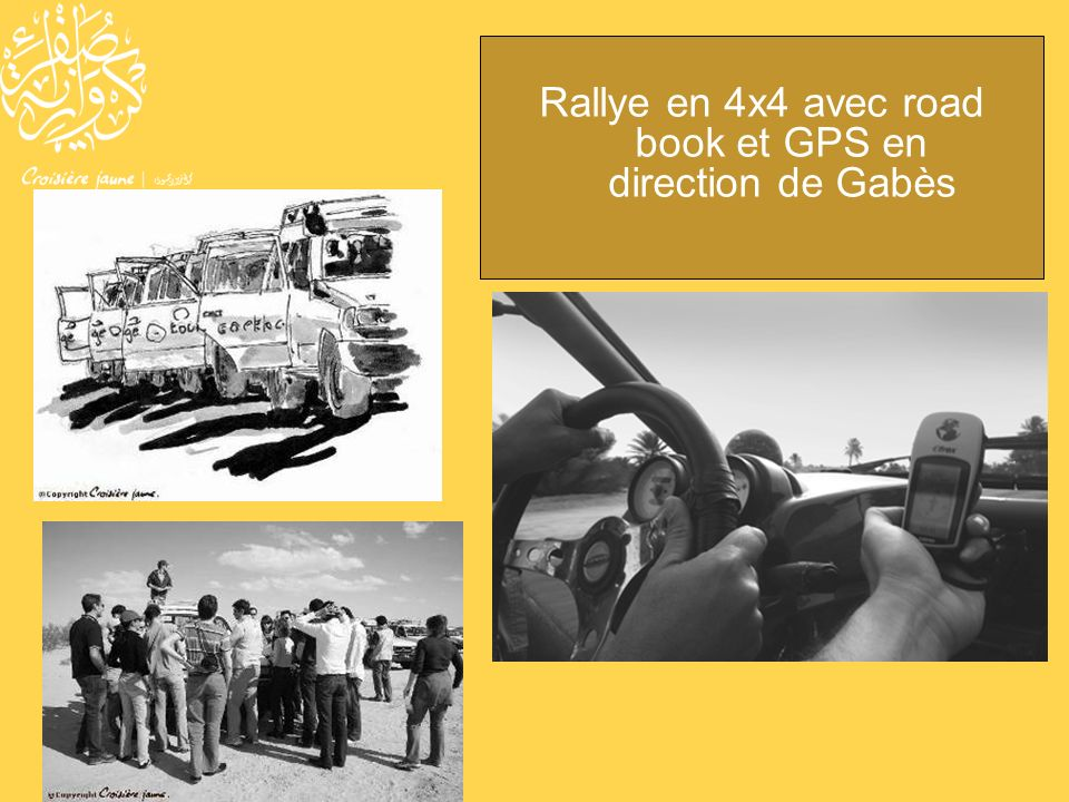Rallye en 4x4 avec road book et GPS en direction de Gabès