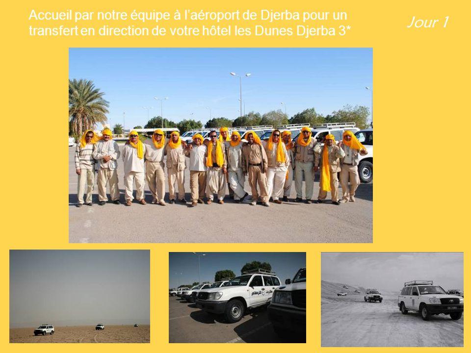 Jour 1 Accueil par notre équipe à laéroport de Djerba pour un transfert en direction de votre hôtel les Dunes Djerba 3*