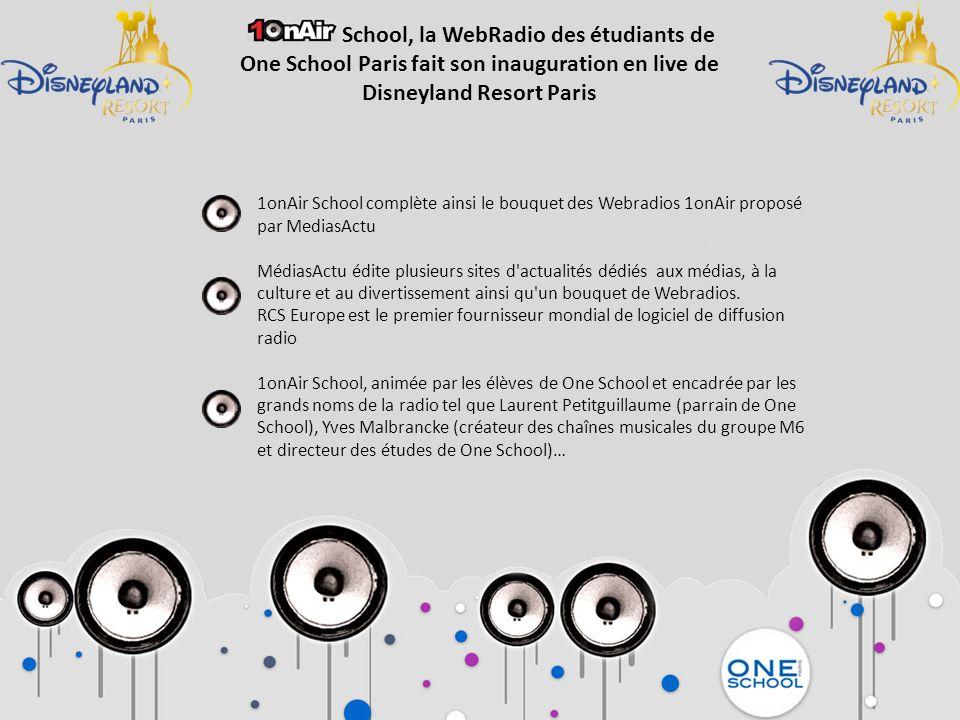 1onAir School complète ainsi le bouquet des Webradios 1onAir proposé par MediasActu MédiasActu édite plusieurs sites d'actualités dédiés aux médias, à
