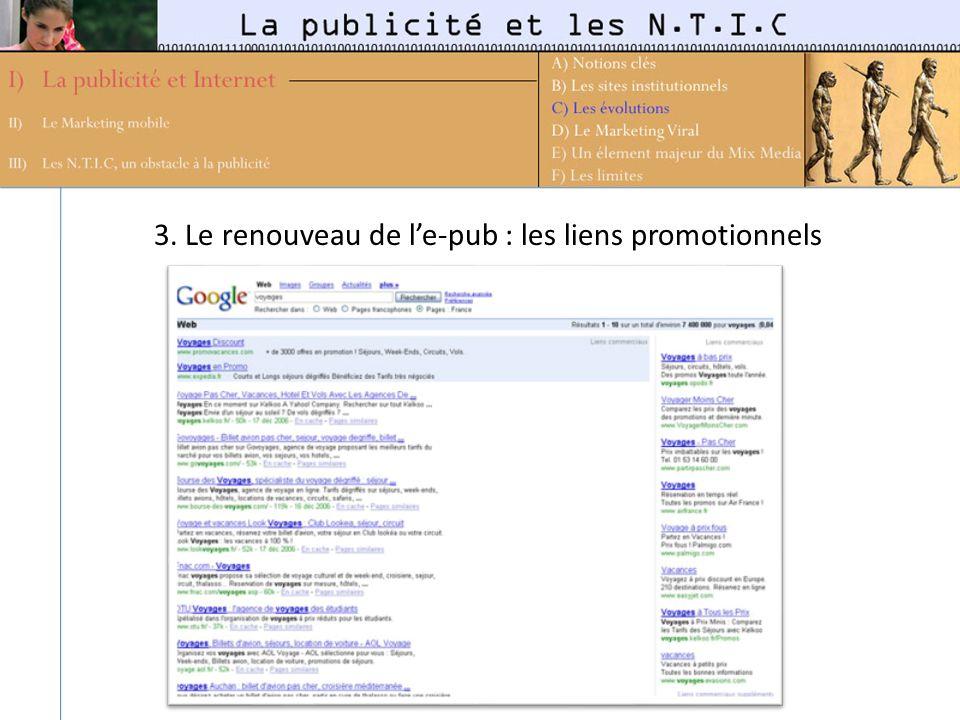3. Le renouveau de le-pub : les liens promotionnels