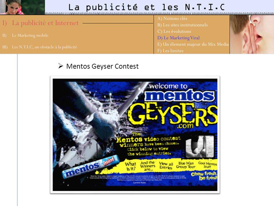 Mentos Geyser Contest