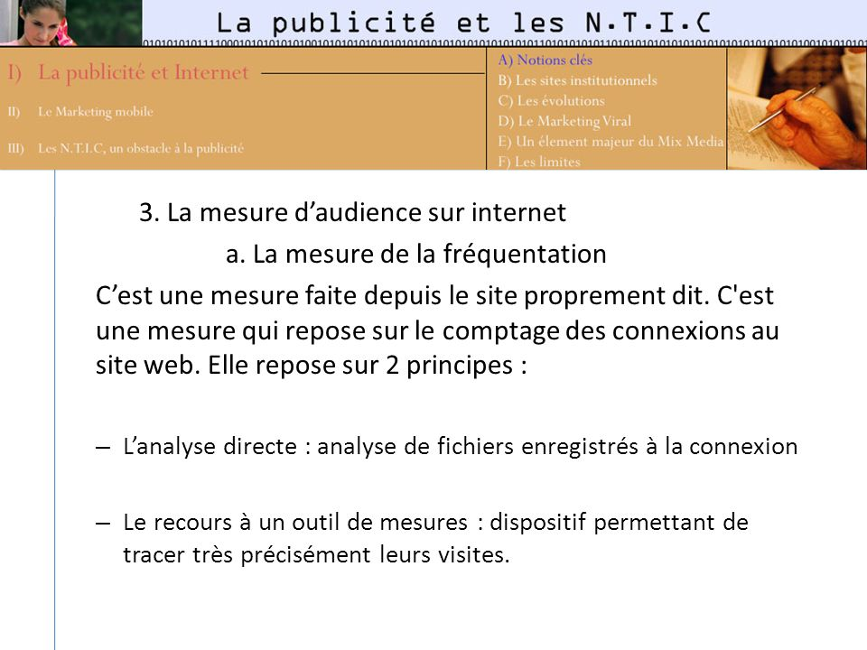 3.La mesure daudience sur internet a.