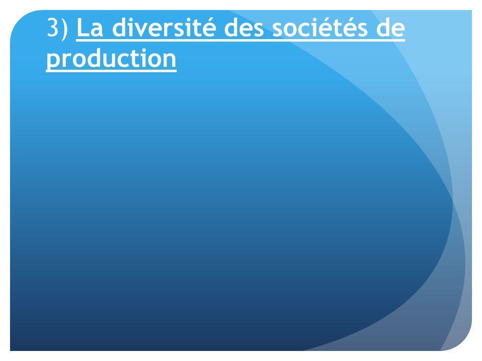 c) Une présentation synthétique de la structure des coûts de production Les principaux postes de coût de production des films de fiction