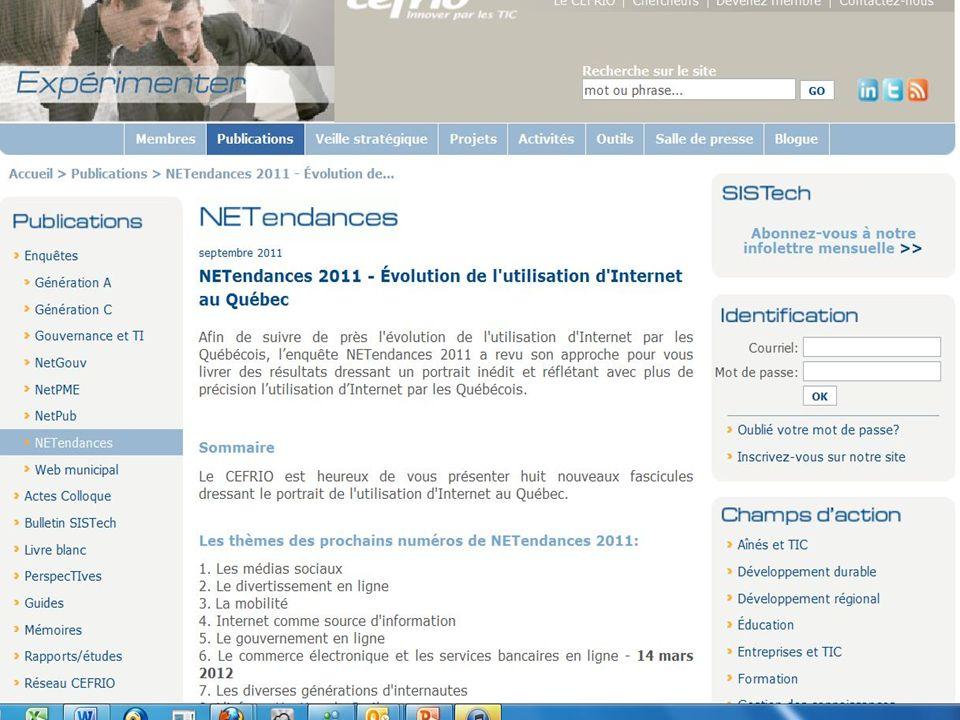 Source: CEFRIO NetTendances 2011