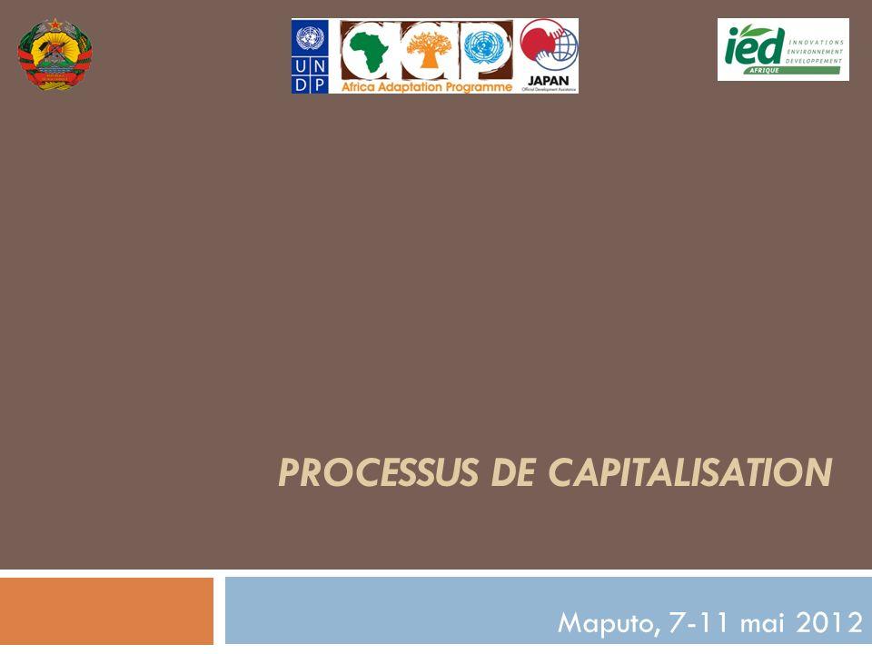 PROCESSUS DE CAPITALISATION Maputo, 7-11 mai 2012