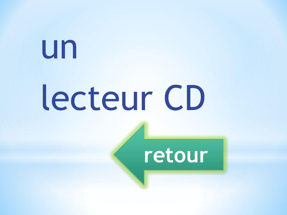 un lecteur CD retour