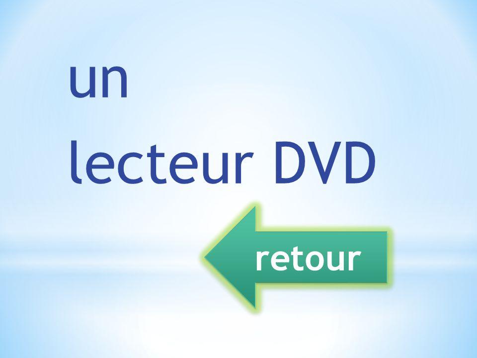 un lecteur DVD retour