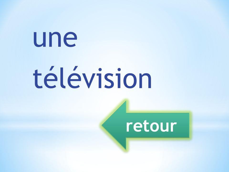 une télévision retour