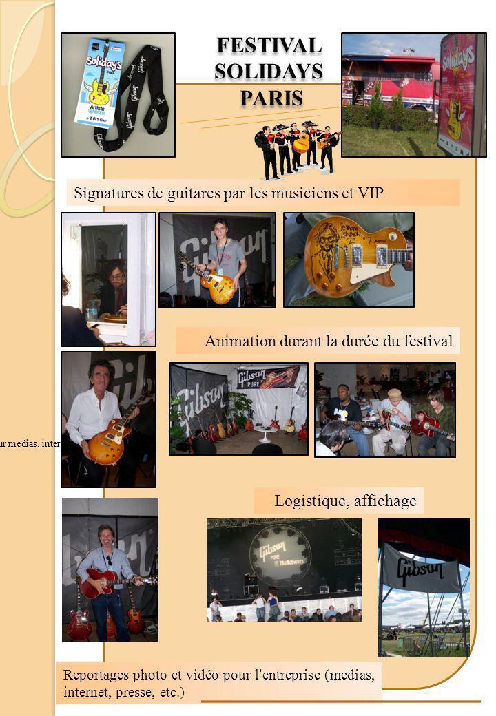 Festival Solidays - Paris Signatures de guitares par les joueurs Reportages photo et vid é o pour l entreprise (pour medias, internet, presse, etc.) F