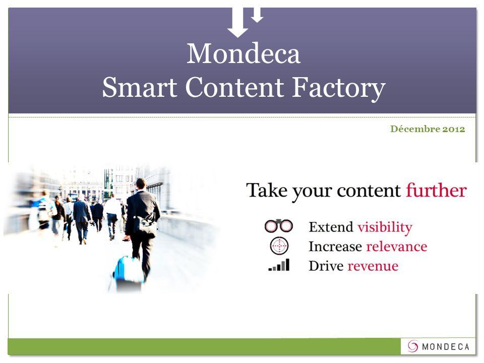 Mondeca Smart Content Factory Décembre 2012
