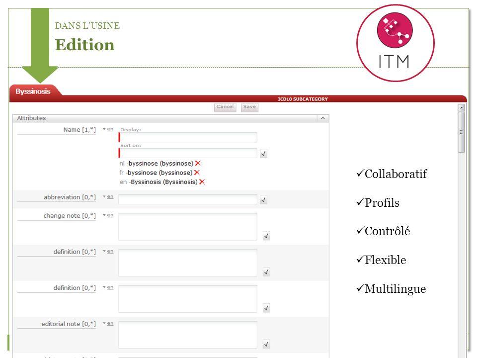 DANS LUSINE Edition Collaboratif Profils Contrôlé Flexible Multilingue
