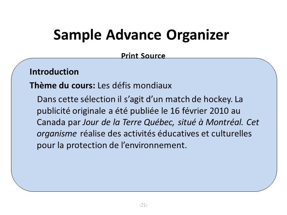 Introduction Thème du cours: Les défis mondiaux Dans cette sélection il sagit dun match de hockey.