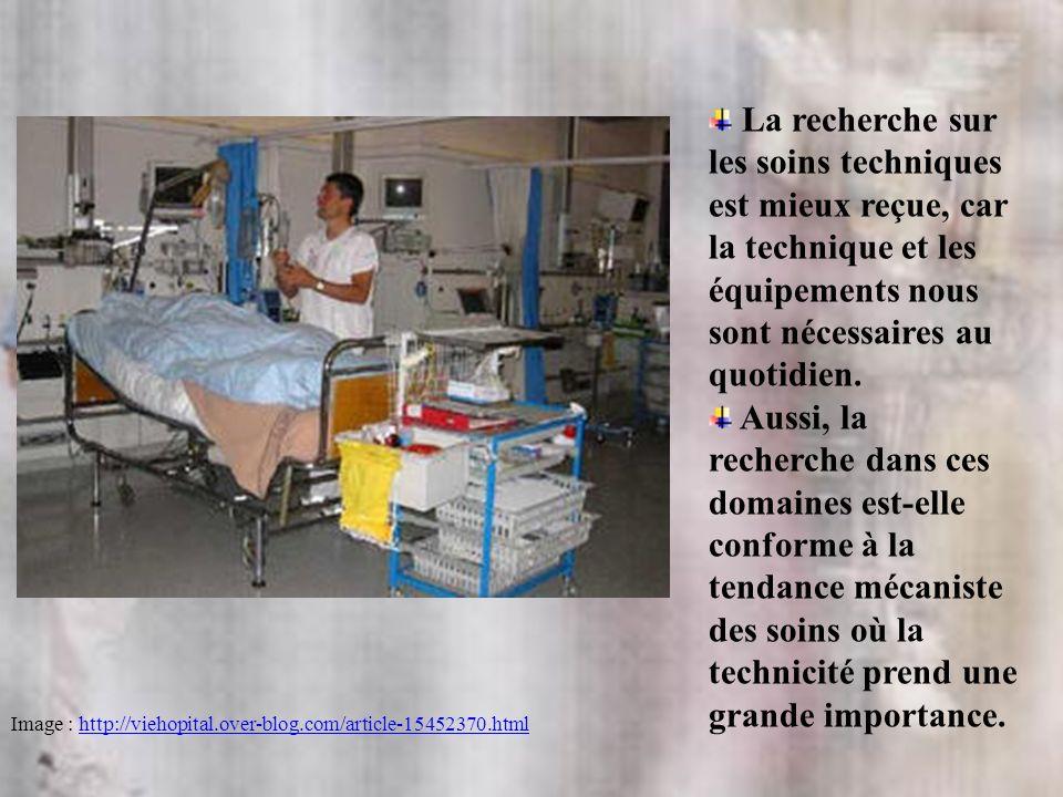 Image : http://viehopital.over-blog.com/article-15452370.htmlhttp://viehopital.over-blog.com/article-15452370.html La recherche sur les soins techniqu