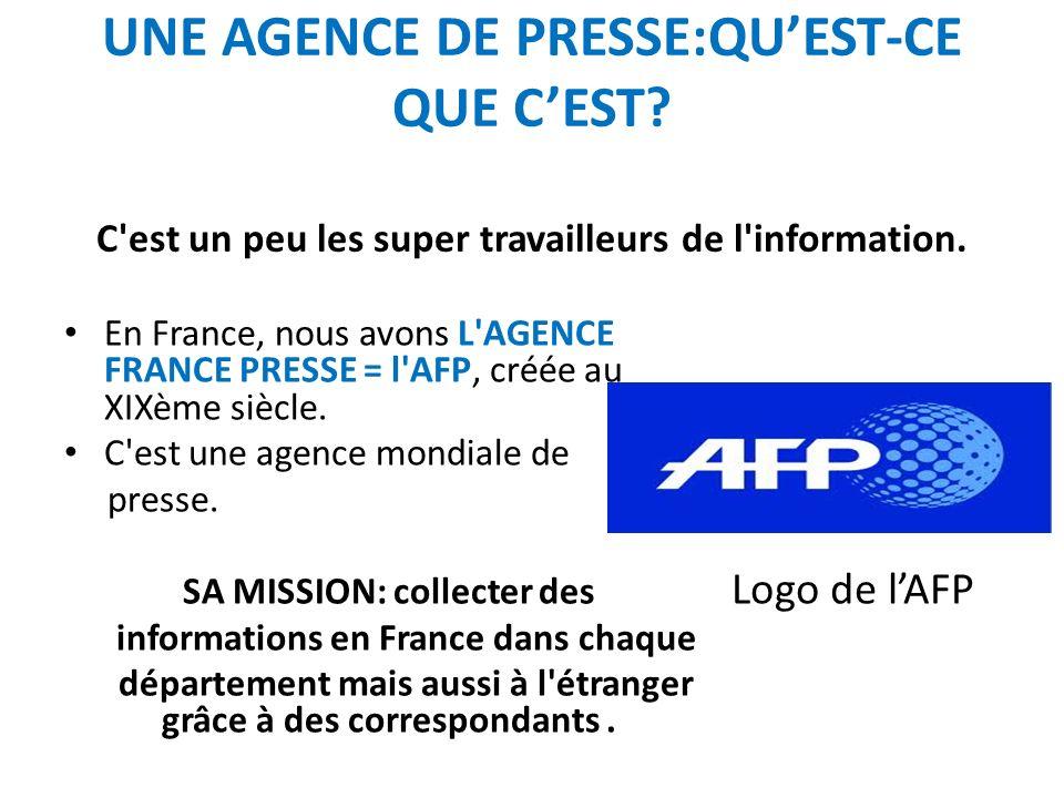 CORRESPONDANT(S) Ce sont des journalistes qui parcourent la planète pour le compte de lAFP.