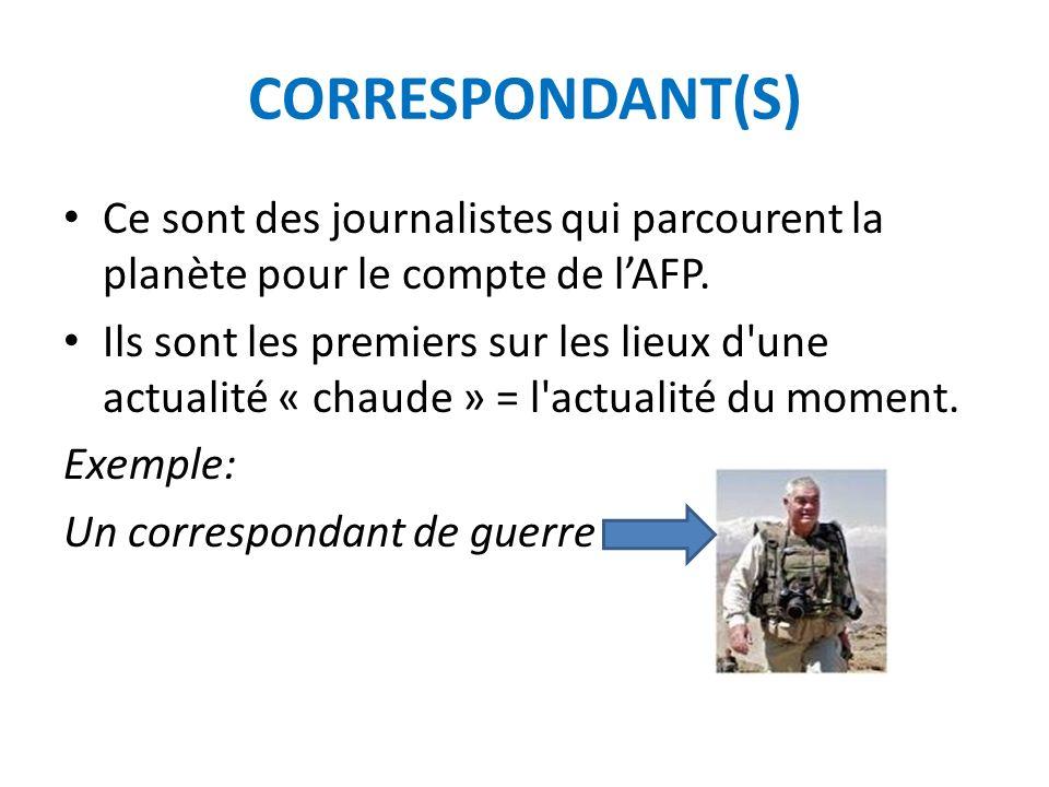 UNE DEPECHE : DEFINITION L AFP fournit, à tous les médias qui sont abonnés, une info généraliste (sans opinion) sur tous les sujets : politiques, économiques, scientifiques mais aussi sociaux, ou culturels dans notre pays et ailleurs.