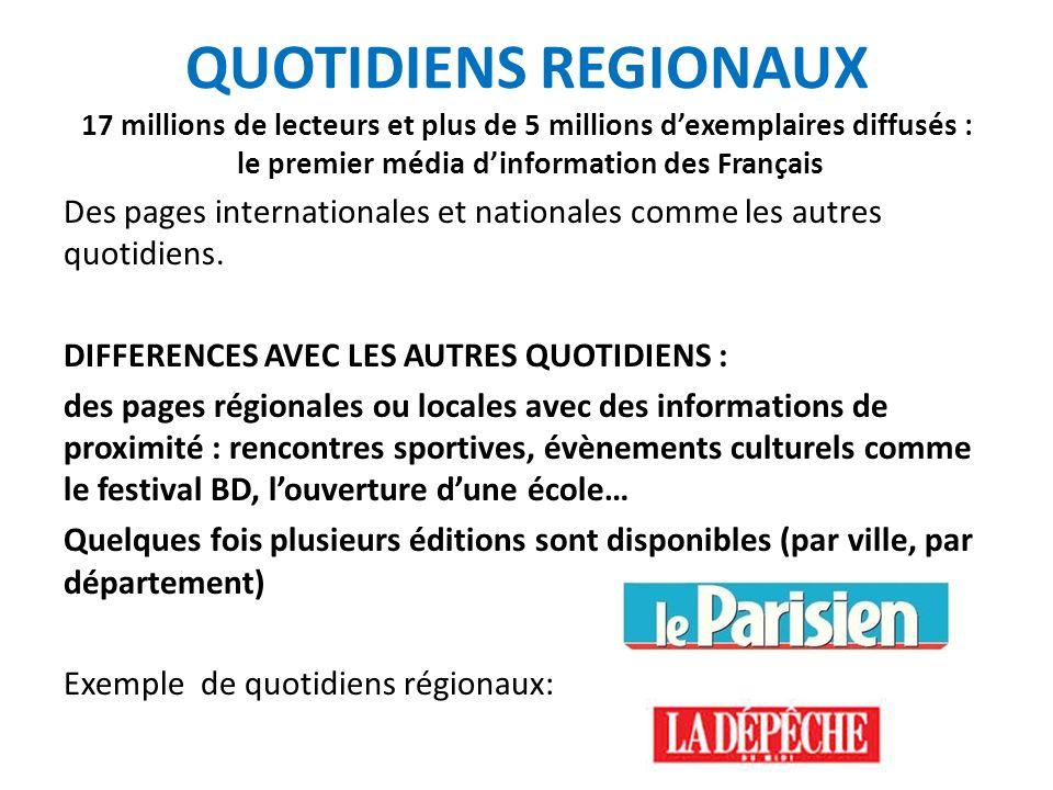 LA DEPECHE DU MIDI : QUOTIDIEN REGIONAL Grande zone de couverture 18 éditions dont 6 en Haute-Garonne