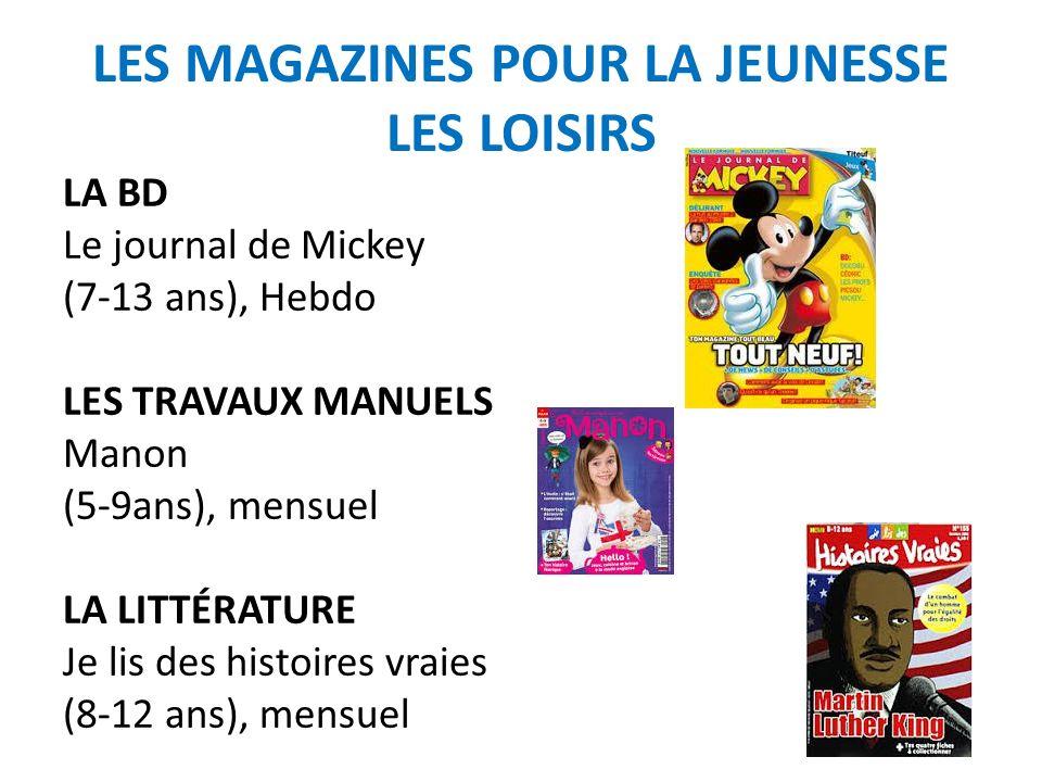 LES MAGAZINES POUR LA JEUNESSE : féminin/filles Julie (9-13 ans) mensuel