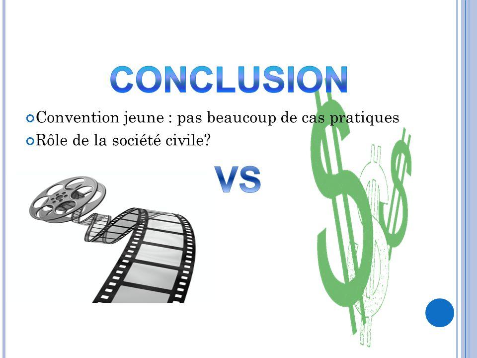 Convention jeune : pas beaucoup de cas pratiques Rôle de la société civile?