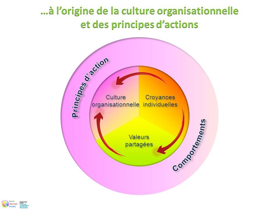 Croyances individuelles Culture organisationnelle Valeurs partagées