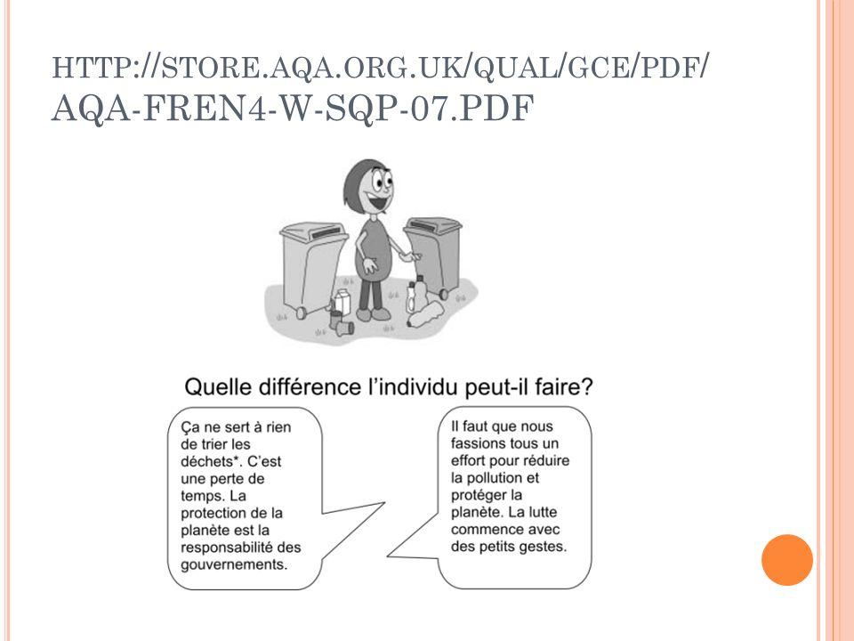 HTTP :// STORE. AQA. ORG. UK / QUAL / GCE / PDF / AQA-FREN4-W-SQP-07.PDF