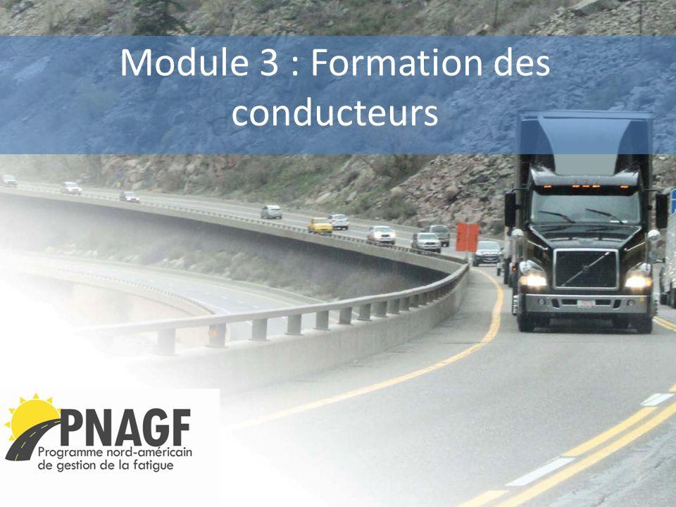Module 3 : Formation des conducteurs