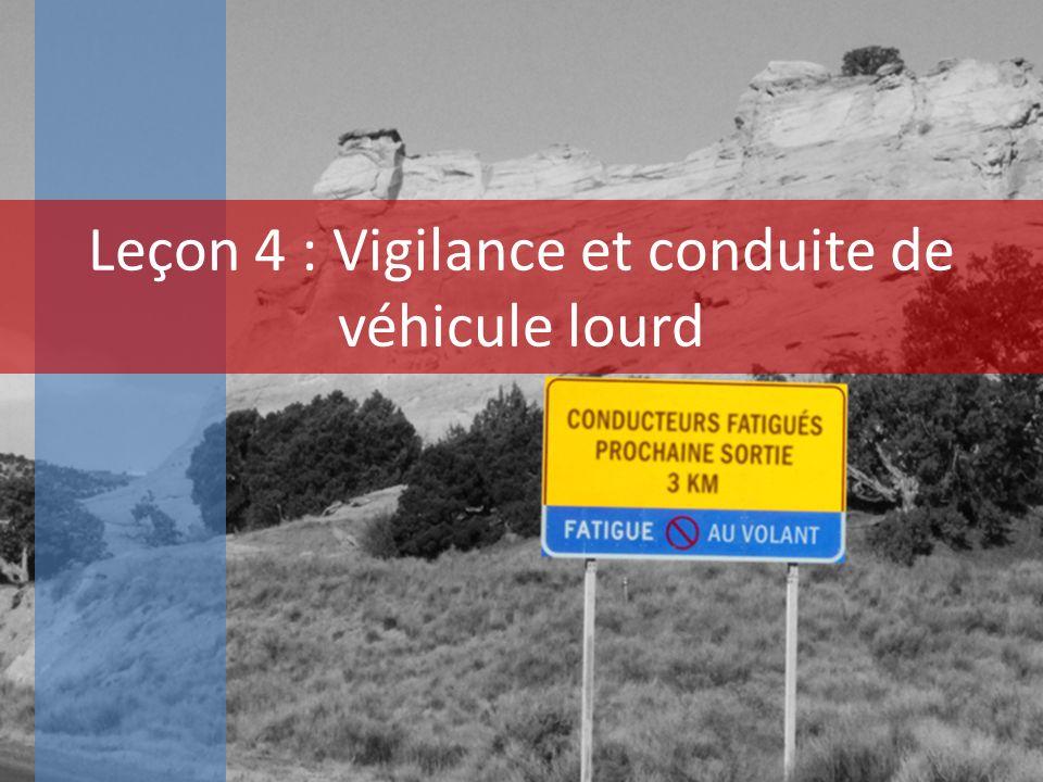 Leçon 4 : Vigilance et conduite de véhicule lourd