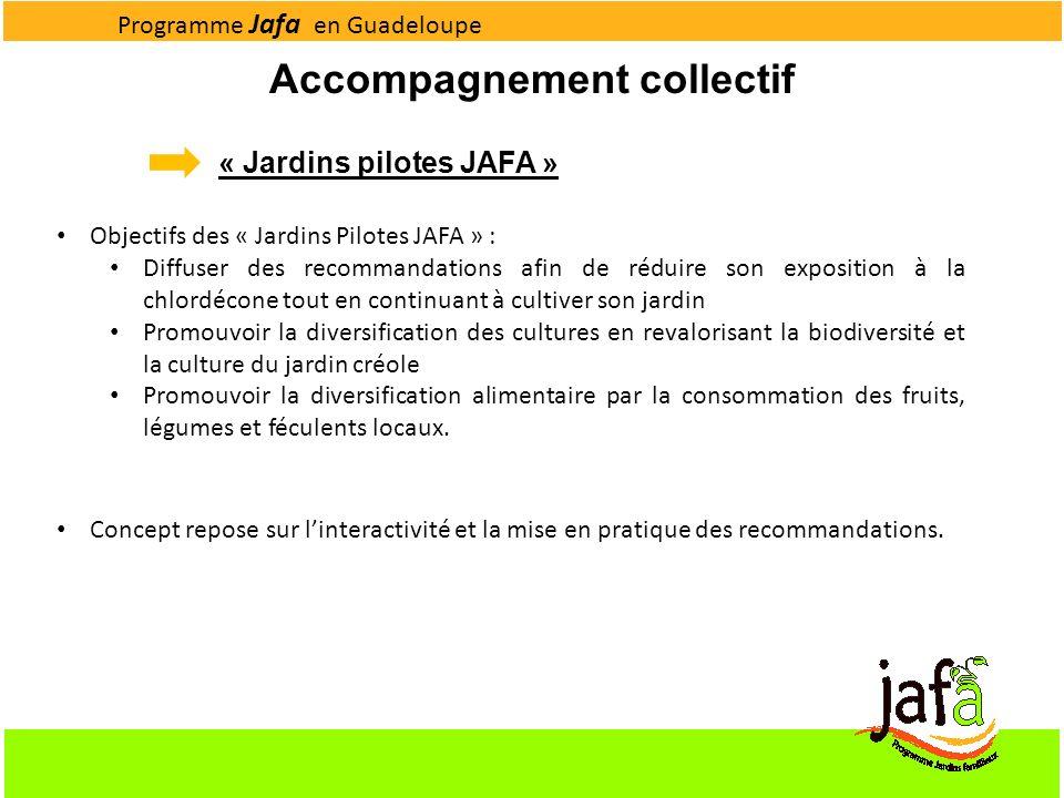 « Jardins pilotes JAFA » Accompagnement collectif Objectifs des « Jardins Pilotes JAFA » : Diffuser des recommandations afin de réduire son exposition