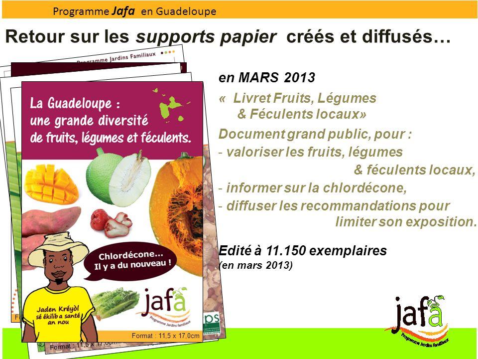 Format : 15,0 x 24,0cm Format : 11,5 x 11,5cm Format : 11,5 x 17,0cm Programme Jafa en Guadeloupe Format : 11,5 x 17,0cm Retour sur les supports papie