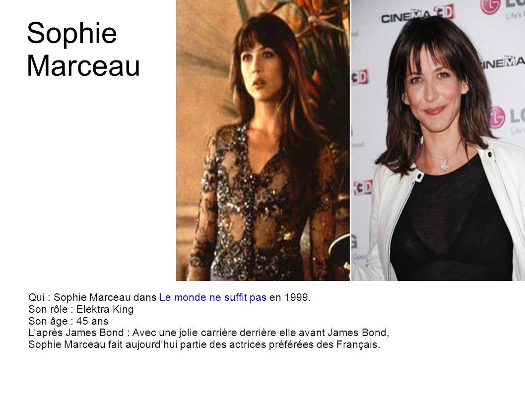 Teri Hatcher Qui : Teri Hatcher dans Demain ne meurt jamais en 1997. Son rôle : Paris Carver Son âge : 47 ans Laprès James Bond : Déjà connue grâce no