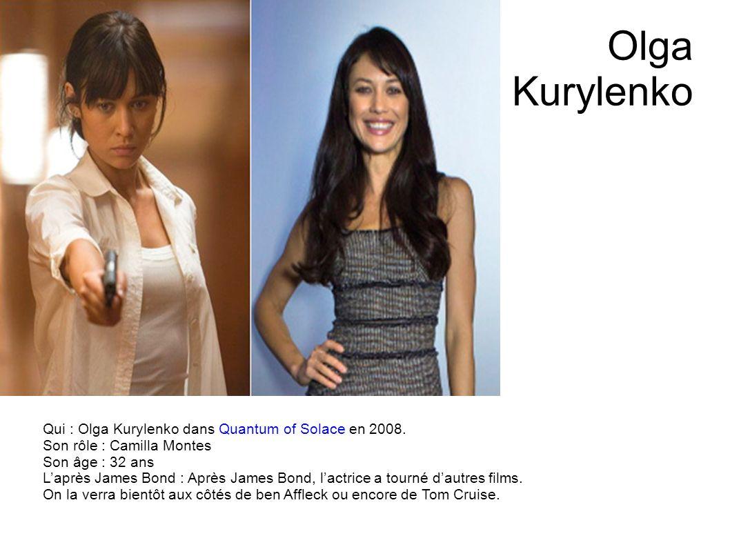 Eva Green Qui : Eva Green dans Casino Royale en 2006. Son rôle : Vesper Lynd Son âge : 32 ans Laprès James Bond : La fille de Marlène Jobert poursuit