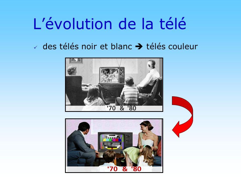 © DN Lévolution de la télé des télés noir et blanc télés couleur