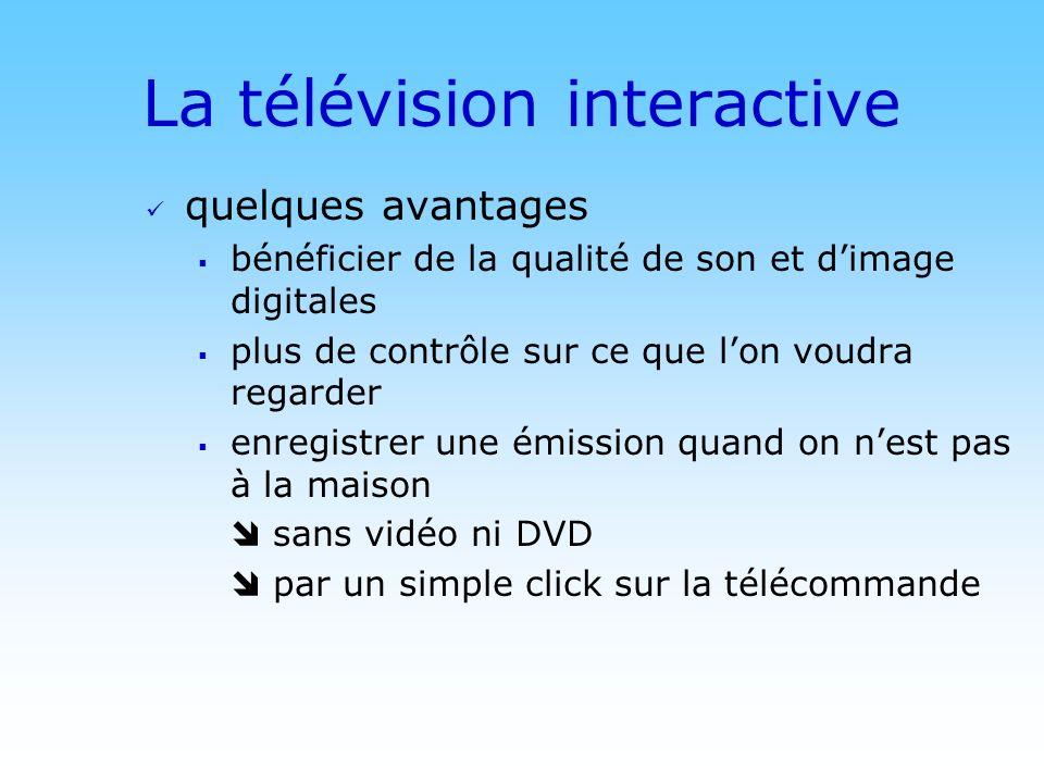 © DN La télévision interactive quelques avantages bénéficier de la qualité de son et dimage digitales plus de contrôle sur ce que lon voudra regarder