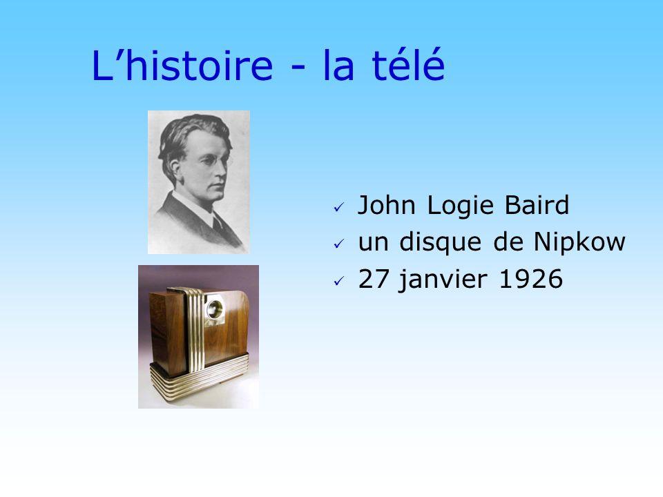 © DN Lhistoire - la télé John Logie Baird un disque de Nipkow 27 janvier 1926