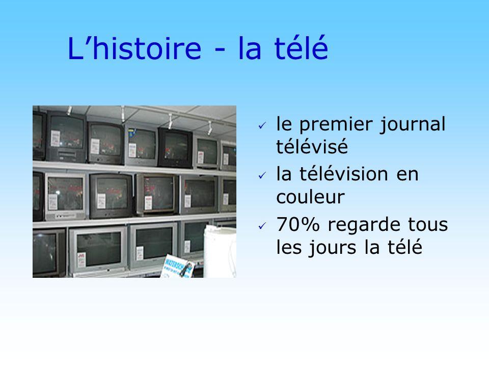 © DN Lhistoire - la télé le premier journal télévisé la télévision en couleur 70% regarde tous les jours la télé