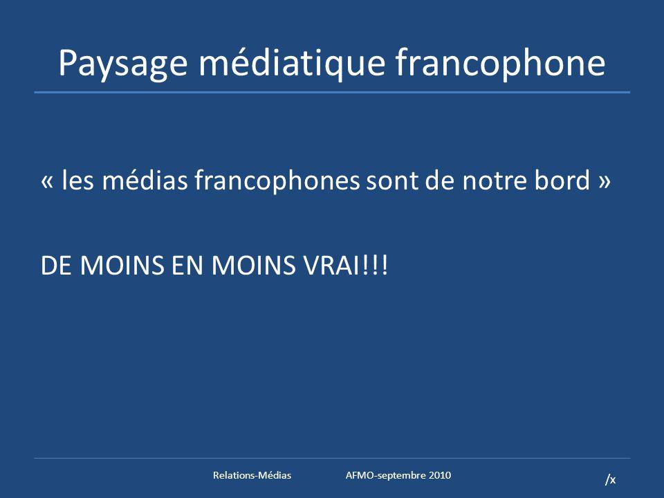 /x Les relations avec les médias en guise de conclusion Le Off the Record Relations-MédiasAFMO-septembre 2010